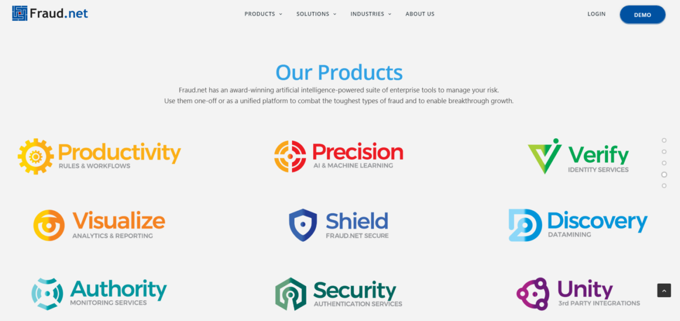 другие продукты от разработчиков Fraud.net: Productivity, Precision, Verify, Visualize, Shield, Discovery, Authority, Security, Unity