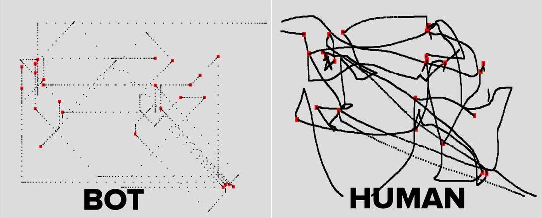 Как бот двигает мышкой отличия от человека